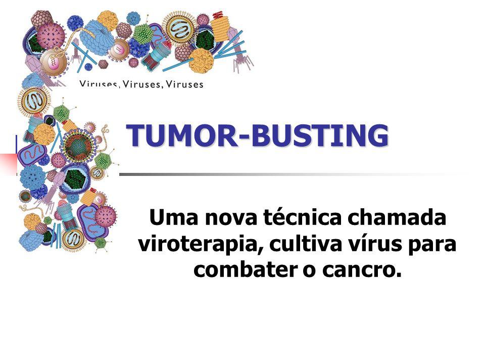 TUMOR-BUSTING Uma nova técnica chamada viroterapia, cultiva vírus para combater o cancro.