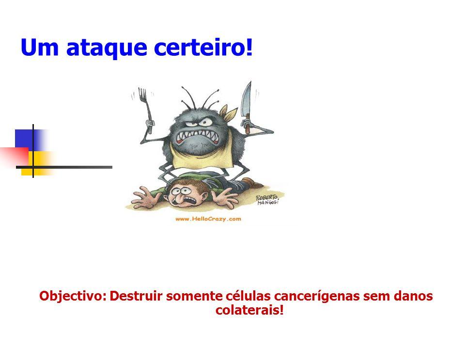Um ataque certeiro! Objectivo: Destruir somente células cancerígenas sem danos colaterais!