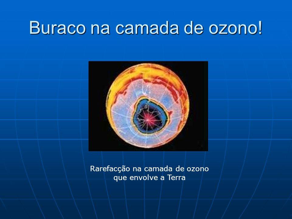 Buraco na camada de ozono! Rarefacção na camada de ozono que envolve a Terra