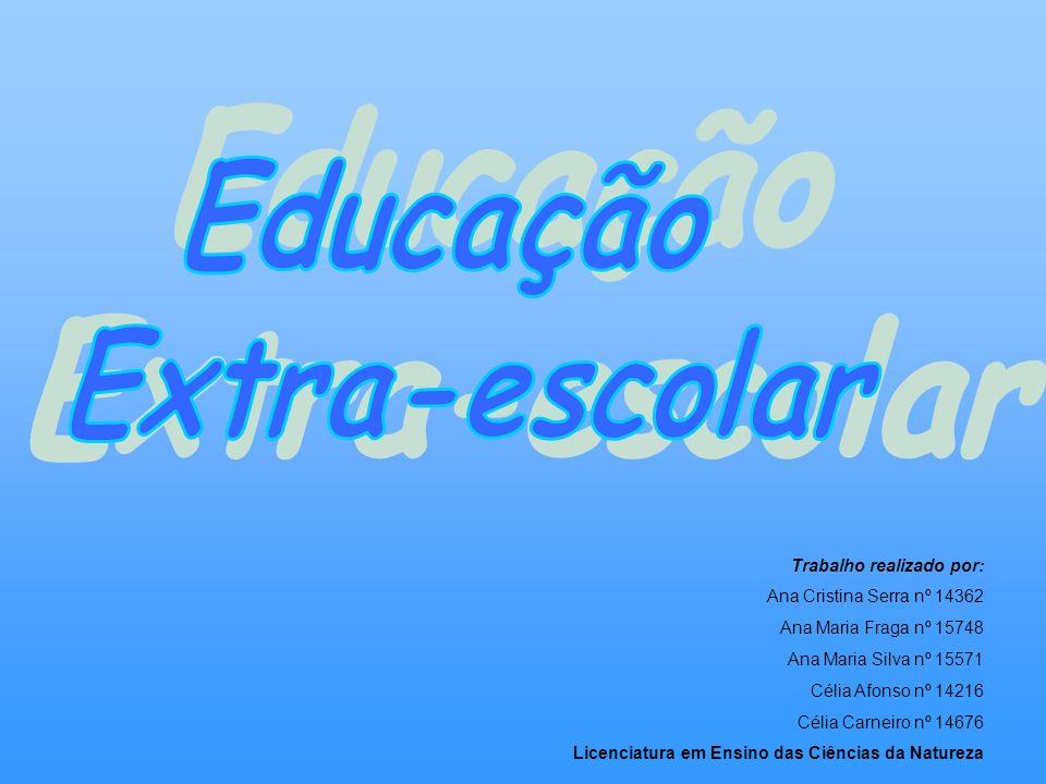 Análise e Gestão Escolar: Educação Extra-Escolar Educação Extra-Escolar: Abrange o conjunto de actividades educativas complementares à formação escolar.