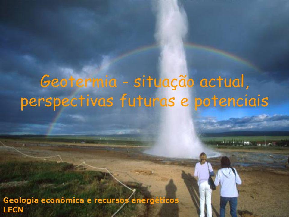 Geotermia A energia geotérmica está associada à dissipação do calor primitivo originado no processo de formação do planeta e à desintegração de elementos radioactivos contidos nas rochas.