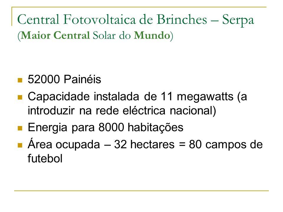 Central Fotovoltaica de Brinches – Serpa (Maior Central Solar do Mundo) Colocação dos módulos fotovoltaicos
