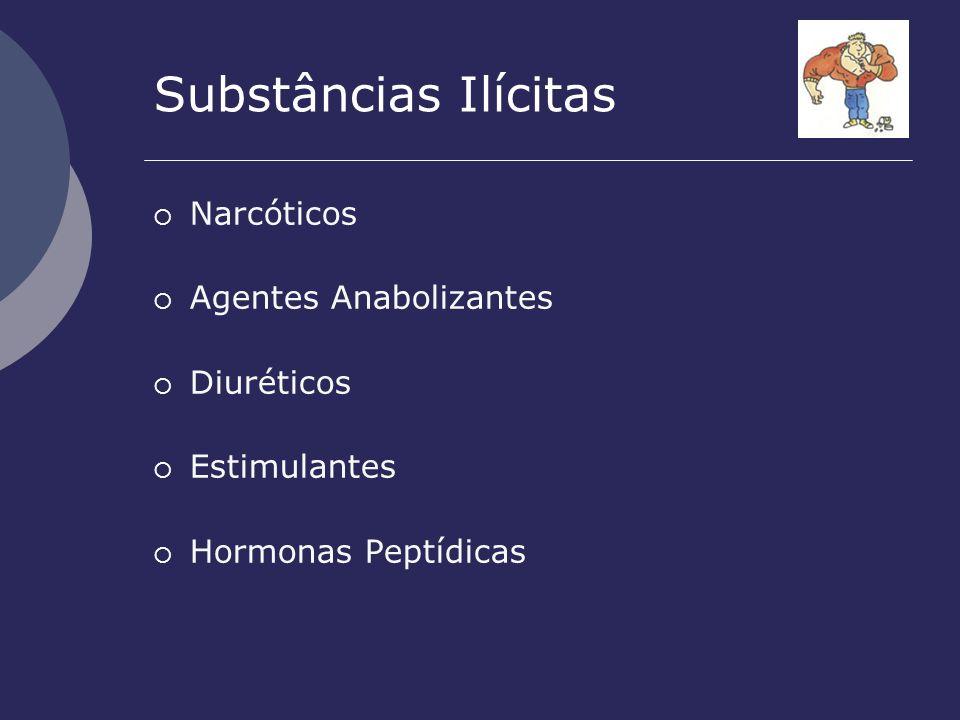 Substâncias Ilícitas Narcóticos Agentes Anabolizantes Diuréticos Estimulantes Hormonas Peptídicas