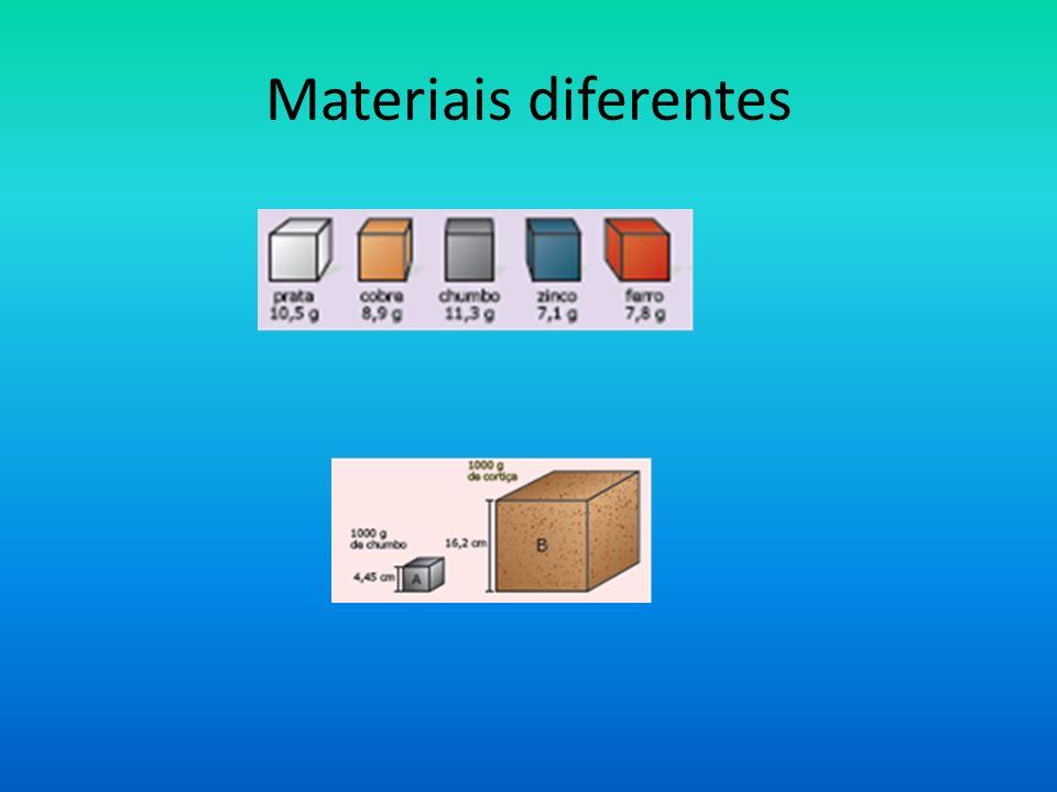 Materiais diferentes