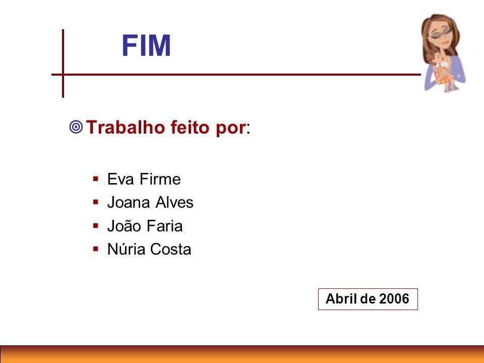 FIM Trabalho feito por: Eva Firme Joana Alves João Faria Núria Costa Abril de 2006