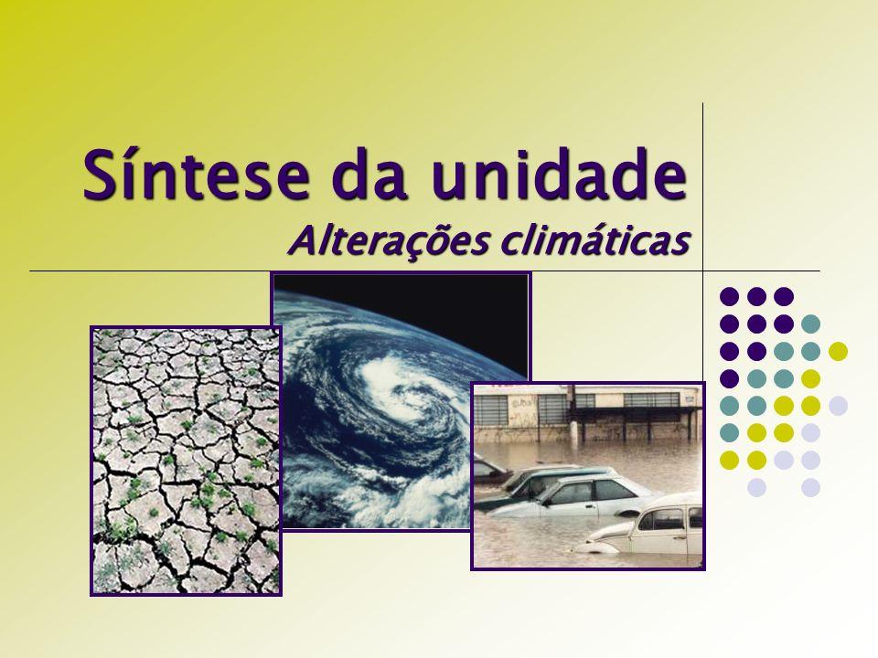 Síntese da unidade Alterações climáticas