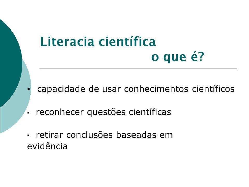 Literacia científica o que é.