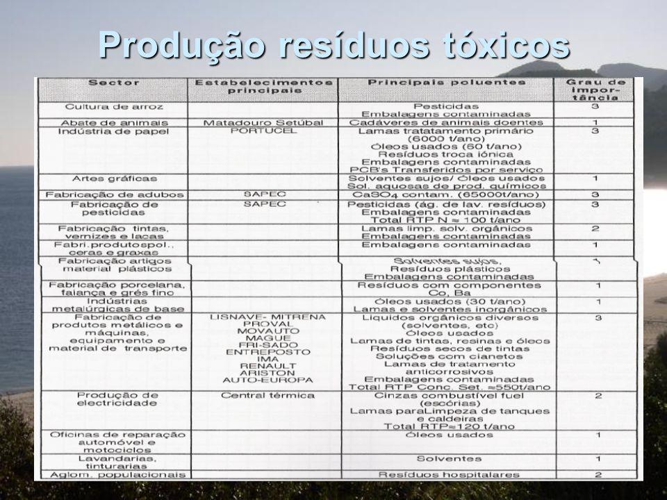 Principais fontes de poluição Problemas