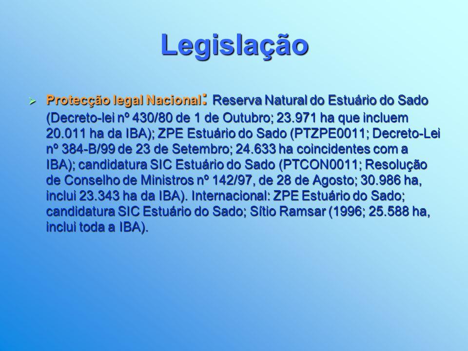 Legislação Zona de Protecção Especial para Aves, ao abrigo da Directiva 79/409/CEE, de Área Importante para as Aves Europeias (designação da Comissão