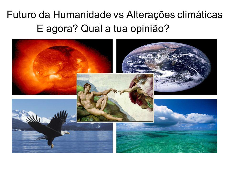 Futuro da Humanidade vs Alterações climáticas E agora? Qual a tua opinião?