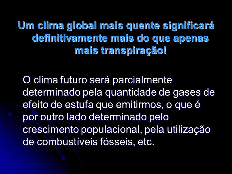 O Painel Internacional para as Alterações Climáticas (IPCC) tem identificado potenciais alterações climáticas, tais como: TROVÕES E RELÂMPAGOS - As alterações climáticas deverão conduzir a mais condições atmosféricas extremas, tal como trovoadas intensas.
