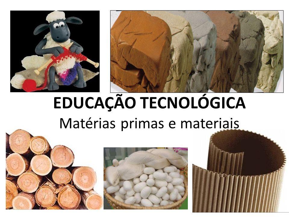 EDUCAÇÃO TECNOLÓGICA Matérias primas e materiais