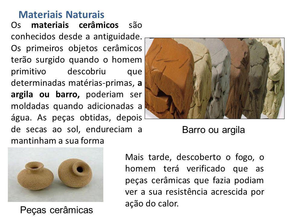 Os materiais cerâmicos são conhecidos desde a antiguidade. Os primeiros objetos cerâmicos terão surgido quando o homem primitivo descobriu que determi