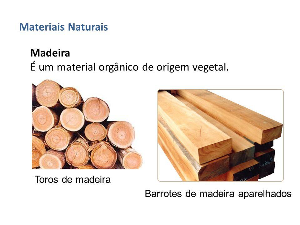 Madeira É um material orgânico de origem vegetal. Toros de madeira Barrotes de madeira aparelhados
