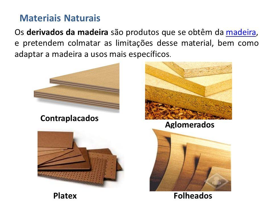 Os derivados da madeira são produtos que se obtêm da madeira, e pretendem colmatar as limitações desse material, bem como adaptar a madeira a usos mai