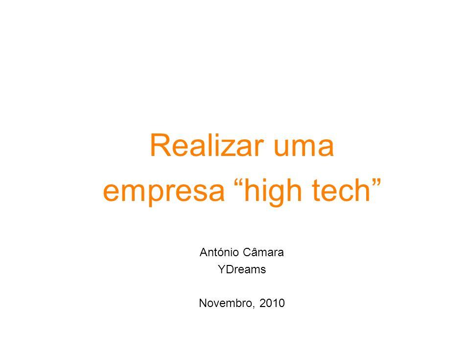 Realizar uma empresa high tech António Câmara YDreams Novembro, 2010