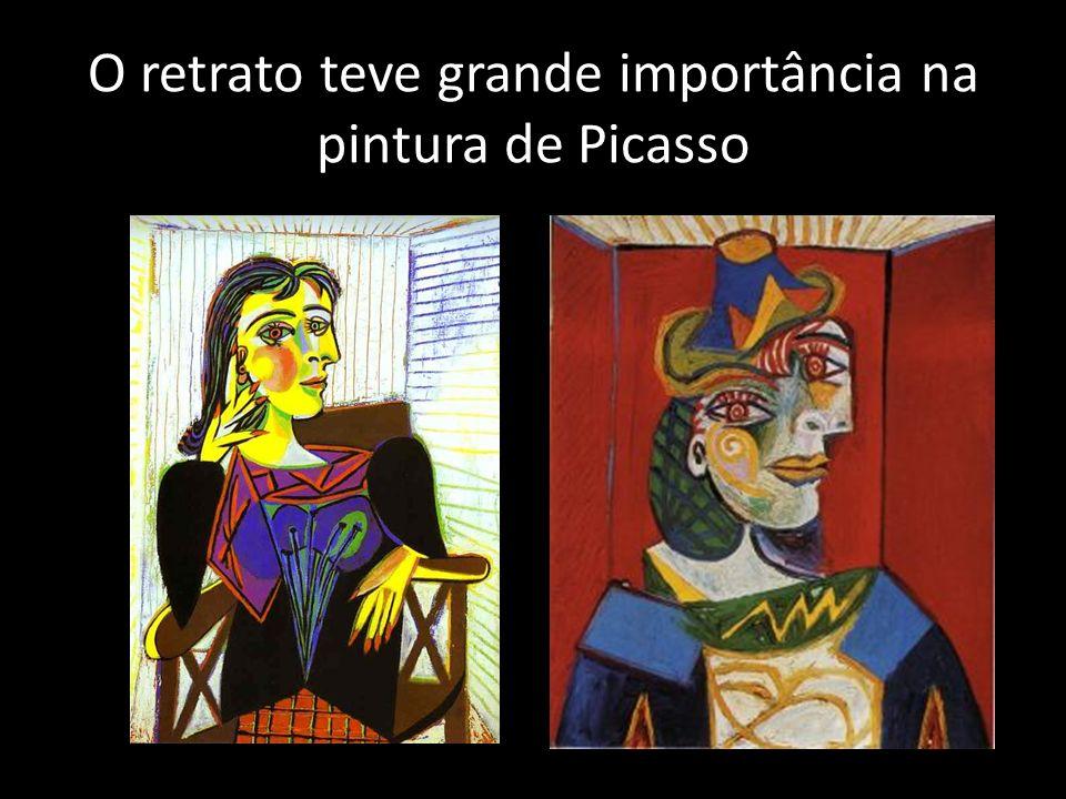 O retrato teve grande importância na pintura de Picasso