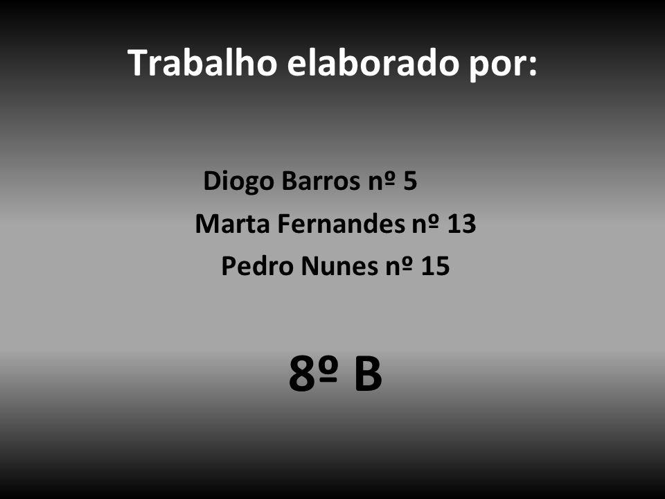Trabalho elaborado por: Diogo Barros nº 5 Marta Fernandes nº 13 Pedro Nunes nº 15 8º B