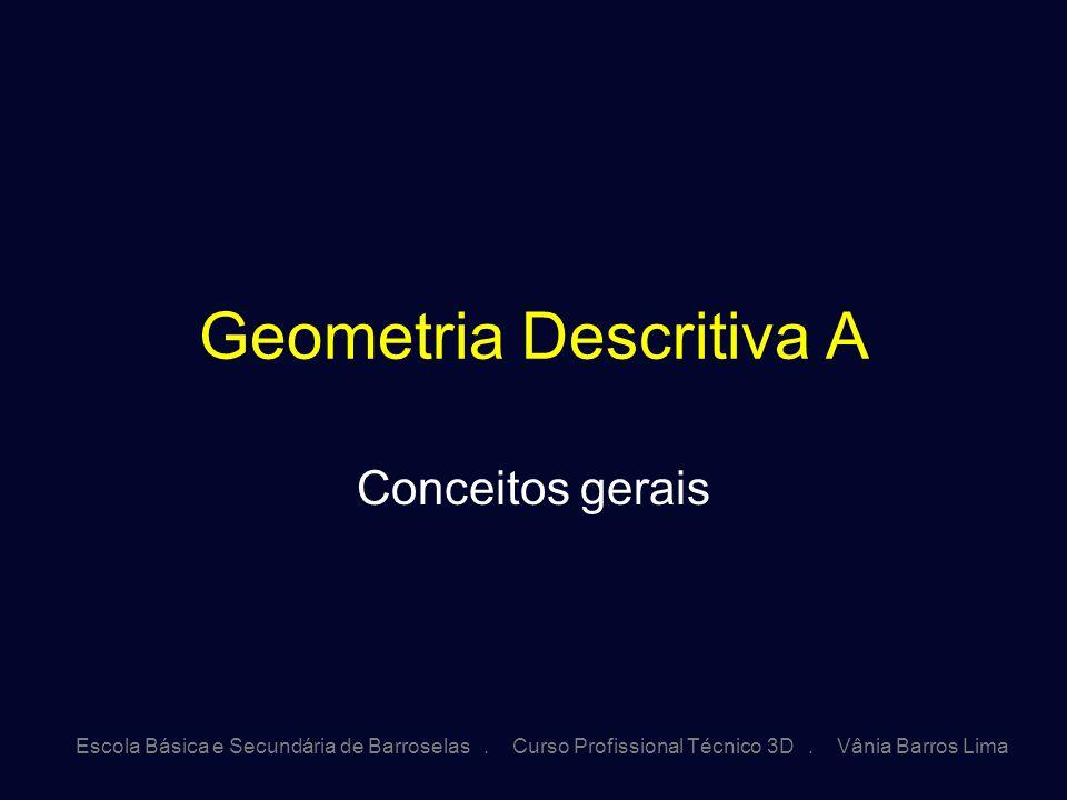 Escola Básica e Secundária de Barroselas. Curso Profissional Técnico 3D. Vânia Barros Lima Geometria Descritiva A Conceitos gerais