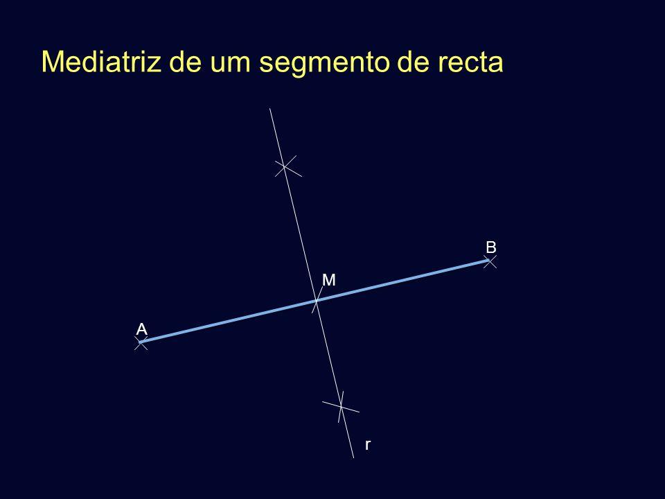 Mediatriz de um segmento de recta A B M r
