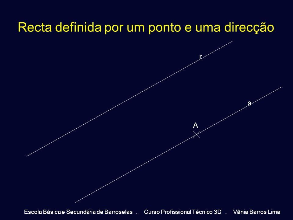 Orientação de um plano Tal como já referido, num plano podem estar contidas rectas com direcções diferentes (rectas concorrentes) e rectas com uma mesma direcção (rectas paralelas).