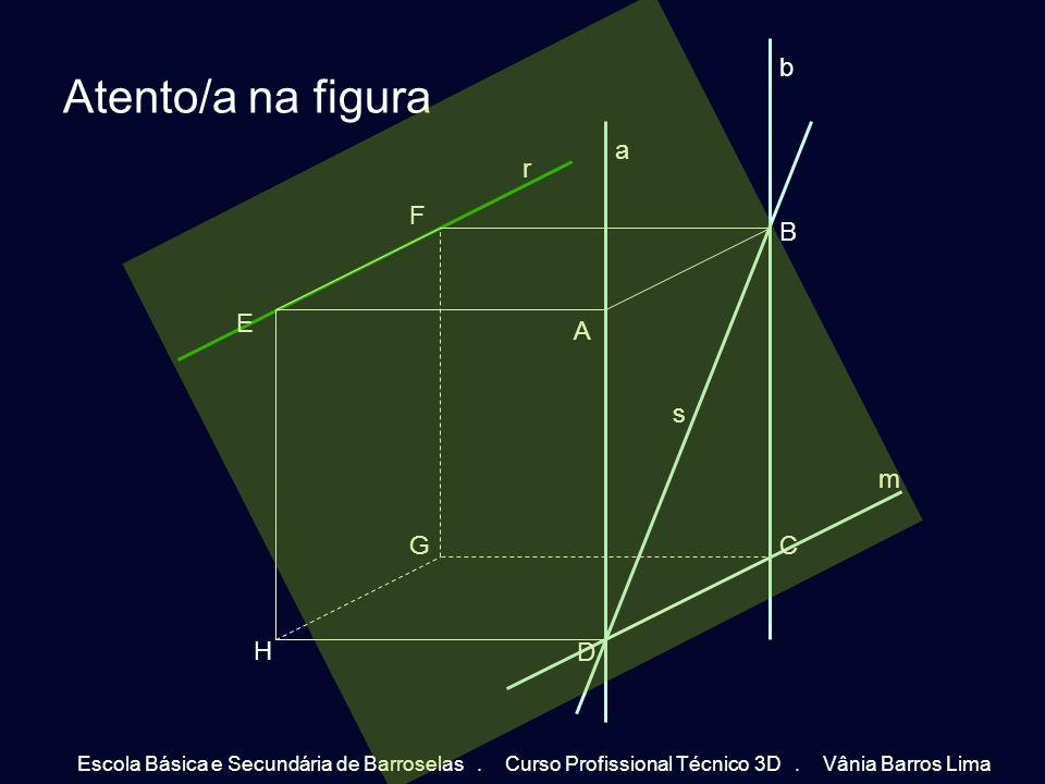 Como se pode observar a recta r é paralela à recta s e todas as rectas do plano com a mesma direcção (pertencem à mesma família de rectas).