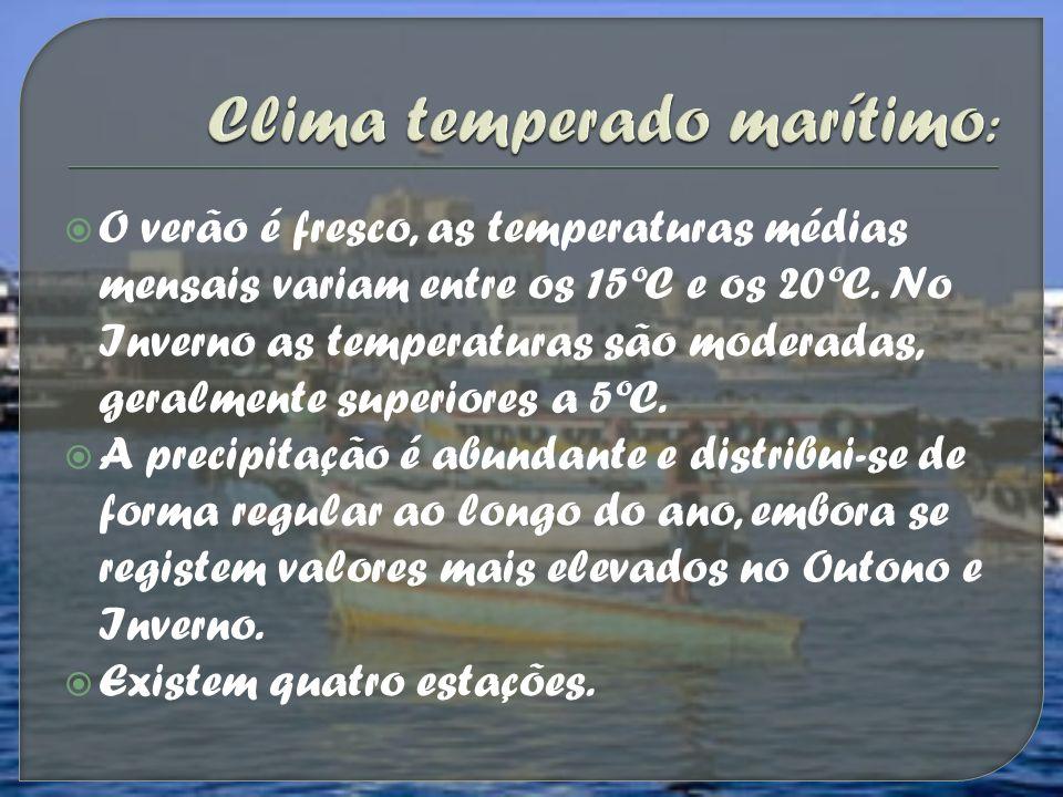 O verão é fresco, as temperaturas médias mensais variam entre os 15ºC e os 20ºC. No Inverno as temperaturas são moderadas, geralmente superiores a 5ºC