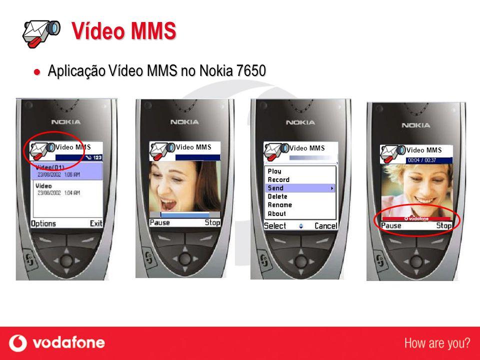Video MMS Vídeo MMS Aplicação Vídeo MMS no Nokia 7650 Aplicação Vídeo MMS no Nokia 7650