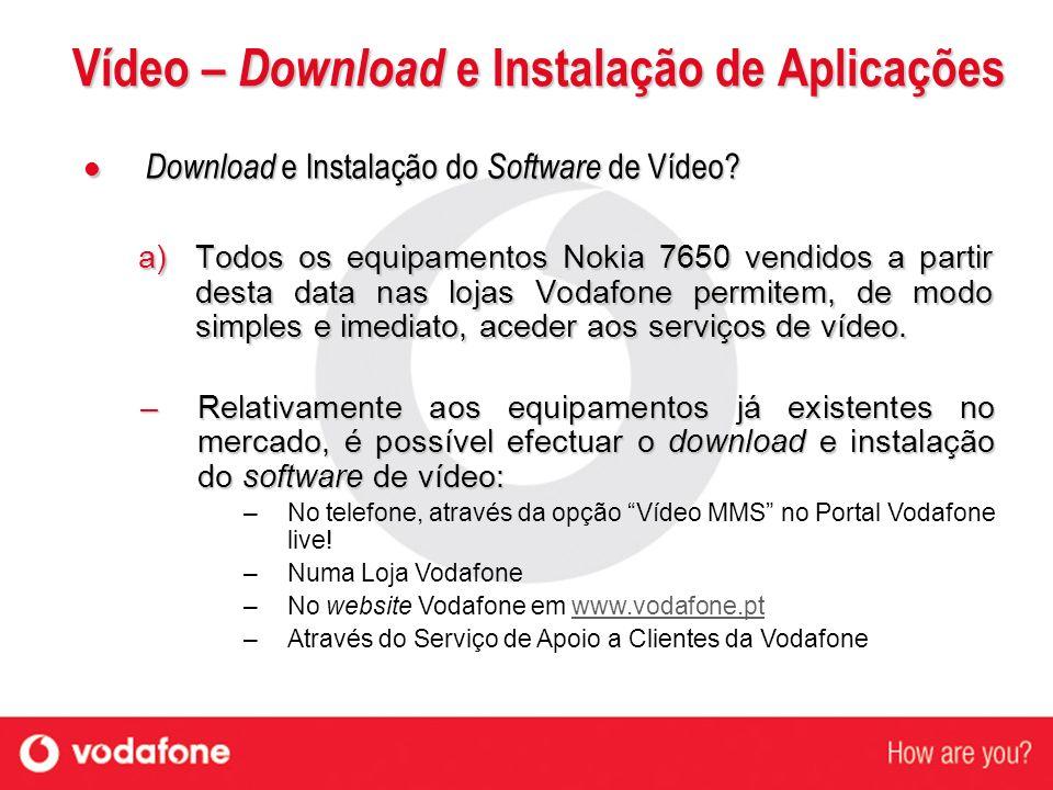 Vídeo – Download e Instalação de Aplicações Download e Instalação do Software de Vídeo? Download e Instalação do Software de Vídeo? a) Todos os equipa
