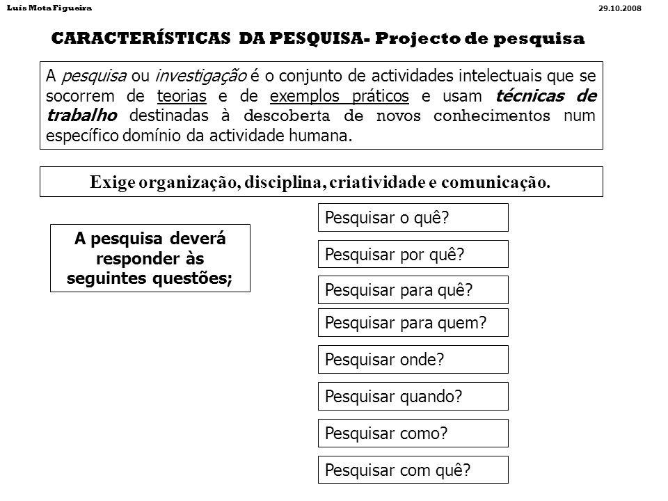ELEMENTOS BÁSICOS que fazem parte material de um TRABALHO CIENTÍFICO Elementos pré-textuais (apresentam-se anteriormente ao corpo principal do trabalho) Elementos textuais (Texto) (é o corpo principal do trabalho) Elementos pós-textuais (apresentam-se posteriormente ao corpo principal do trabalho) Elementos funcionais (organizam tecnicamente a lógica narrativa) CAPA* PÁGINA DE ROSTO* NOTA BIOGRÁFICA** RESUMO(INGLÊS)-Palavras- chave* PENSAMENTO ou DEDICATÓRIA ou AGRADECIMENTOS** METODOLOGIA* APRESENTAÇÃO* PREFÁCIO ou PRÓLOGO** SIGLAS ou ABREVIATURAS* SUMÁRIO/ ÍNDICE* ERRATA* INTRODUÇÃO* DESENVOLVIMENTO* CONCLUSÃO* BIBLIOGRAFIA* WEBGRAFIA* APÊNDICES** ANEXOS* ÍNDICES** MAPAS** TABELAS** GRÁFICOS** CITAÇÕES &… NOTAS &… PAGINAÇÃO## MANCHA## MARGENS## ESQUEMAS## FOTOS & … Elementos obrigatórios* Elementos facultativos** Elementos obrigatórios ## Elementos aconselhados Luís Mota Figueira 29.10.2008