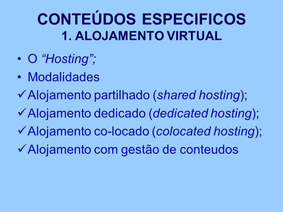 CONTEÚDOS ESPECIFICOS 1.