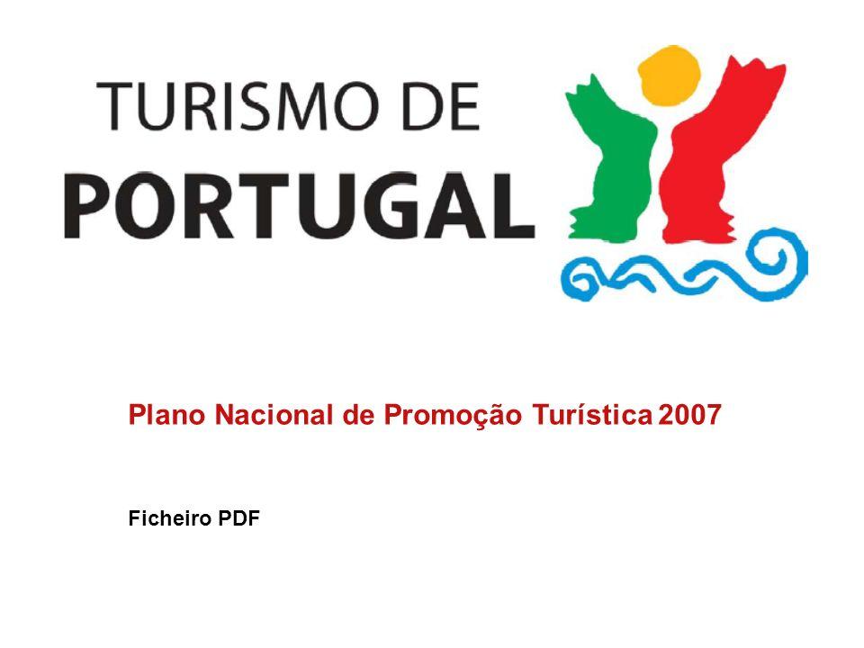Plano Nacional de Promoção Turística 2007 Ficheiro PDF