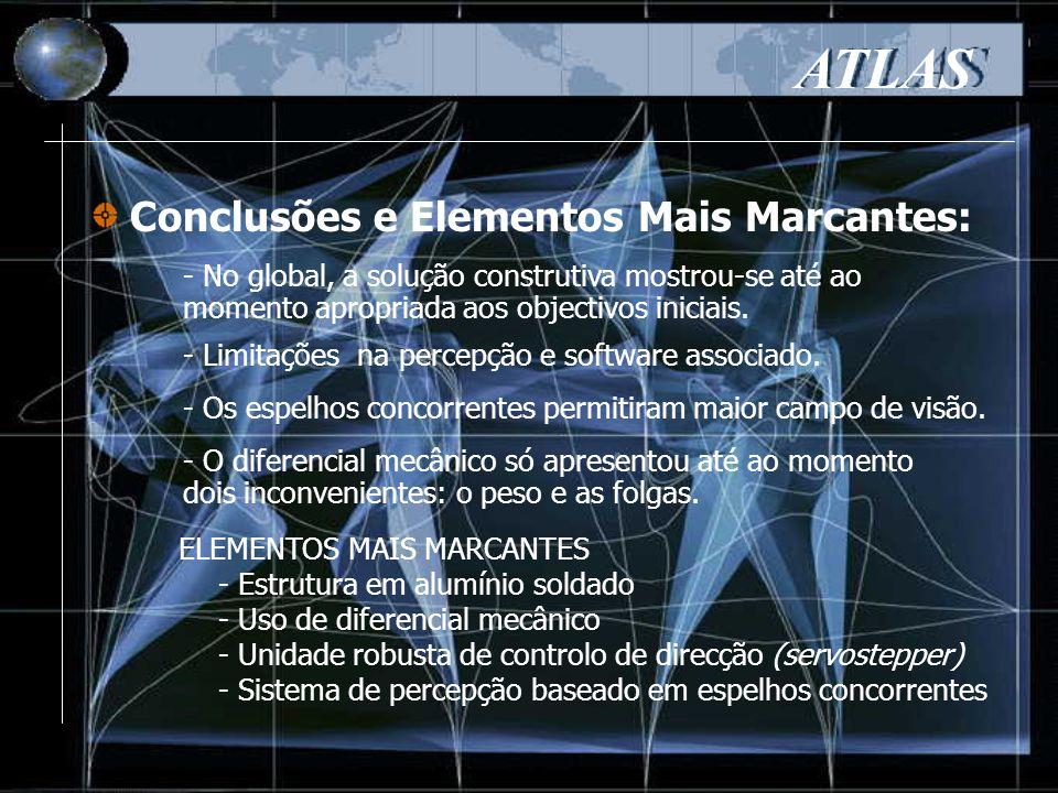 Conclusões e Elementos Mais Marcantes: ATLAS - No global, a solução construtiva mostrou-se até ao momento apropriada aos objectivos iniciais.