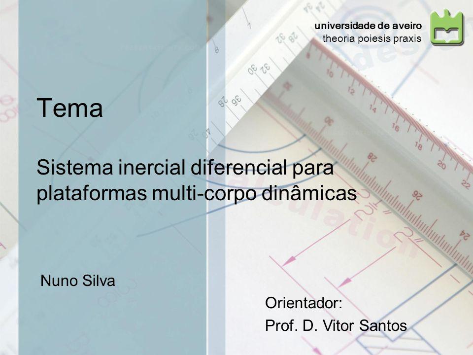 Tema Sistema inercial diferencial para plataformas multi-corpo dinâmicas Nuno Silva Orientador: Prof. D. Vitor Santos universidade de aveiro theoria p