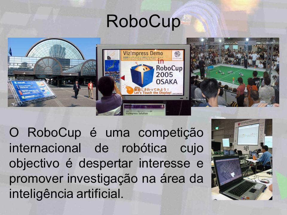 RoboCup O RoboCup é uma competição internacional de robótica cujo objectivo é despertar interesse e promover investigação na área da inteligência arti