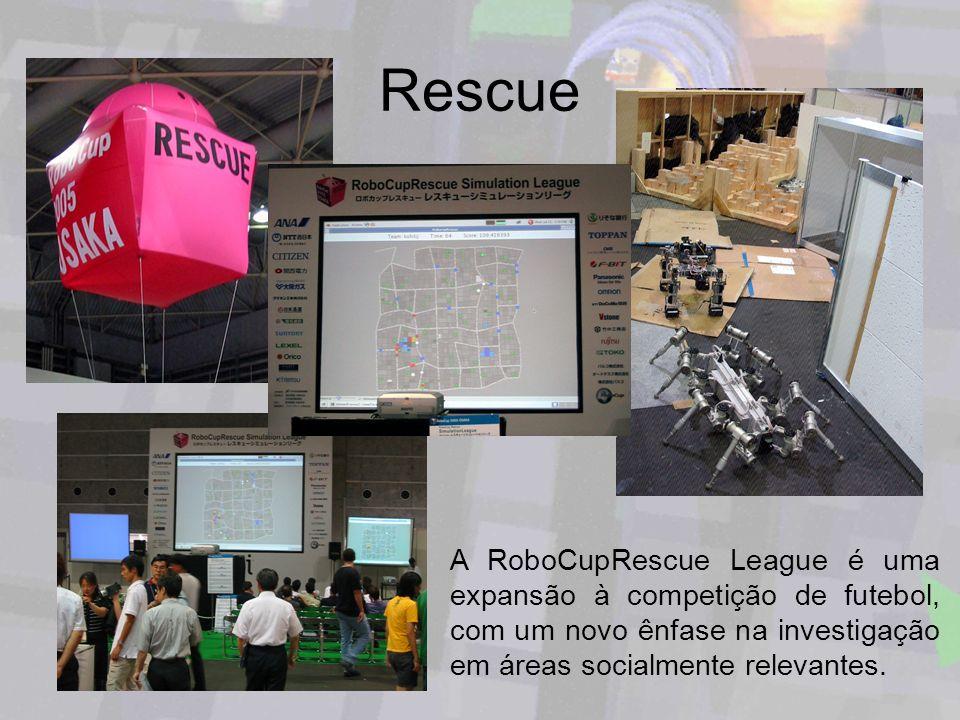 Rescue A RoboCupRescue League é uma expansão à competição de futebol, com um novo ênfase na investigação em áreas socialmente relevantes.