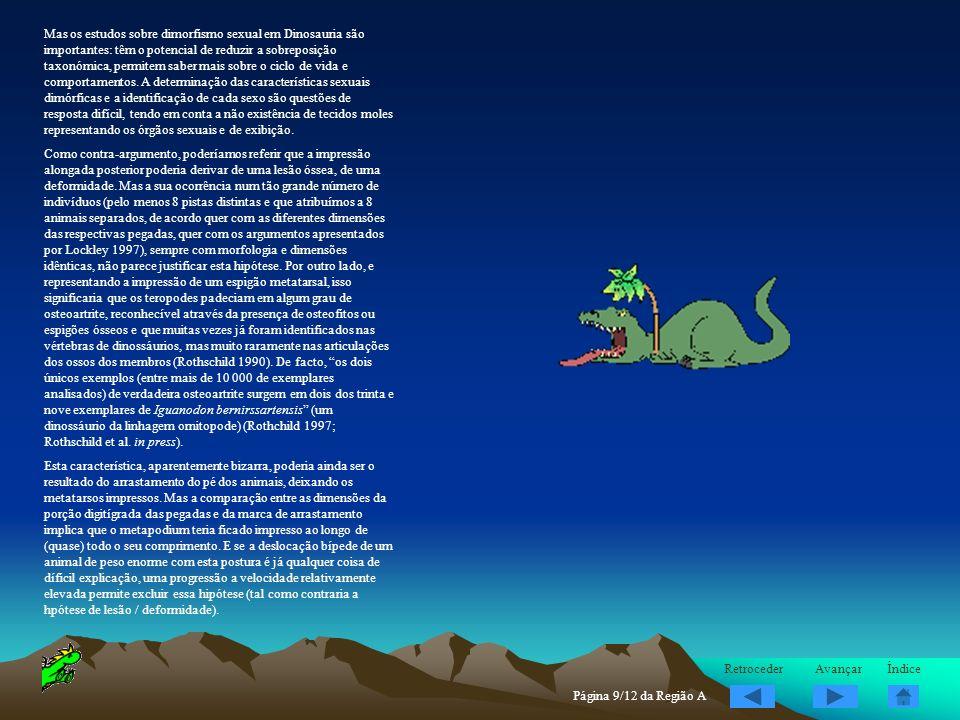 Mas os estudos sobre dimorfismo sexual em Dinosauria são importantes: têm o potencial de reduzir a sobreposição taxonómica, permitem saber mais sobre