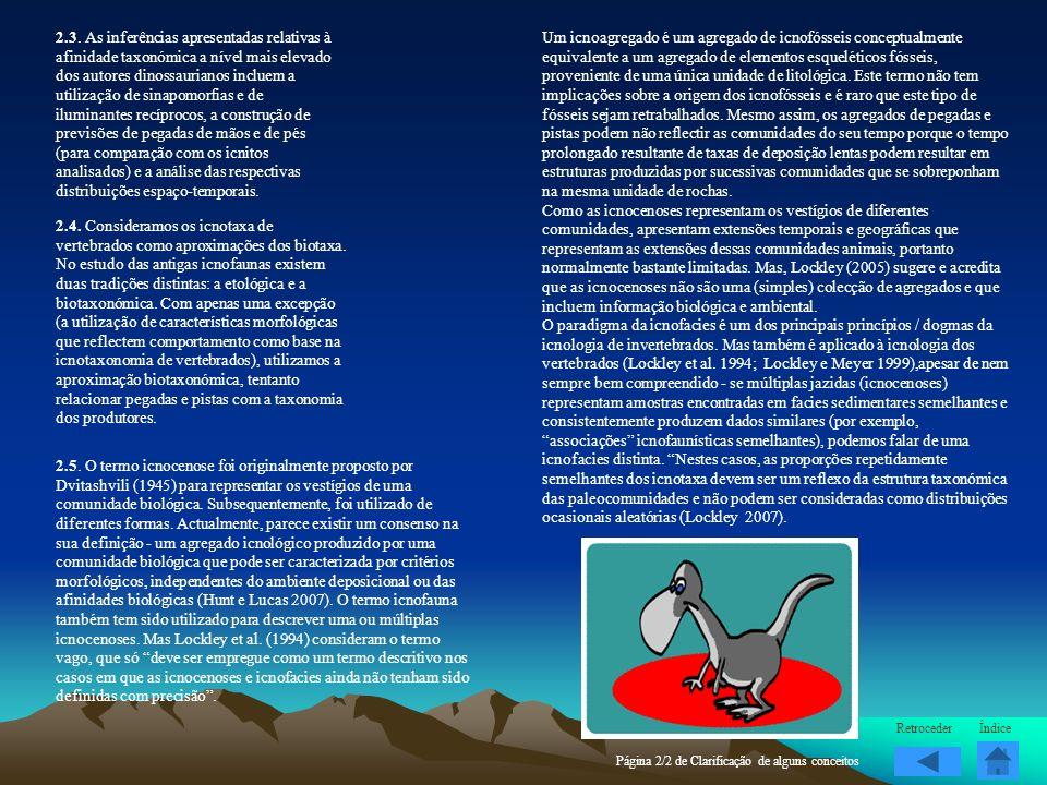 2.3. As inferências apresentadas relativas à afinidade taxonómica a nível mais elevado dos autores dinossaurianos incluem a utilização de sinapomorfia