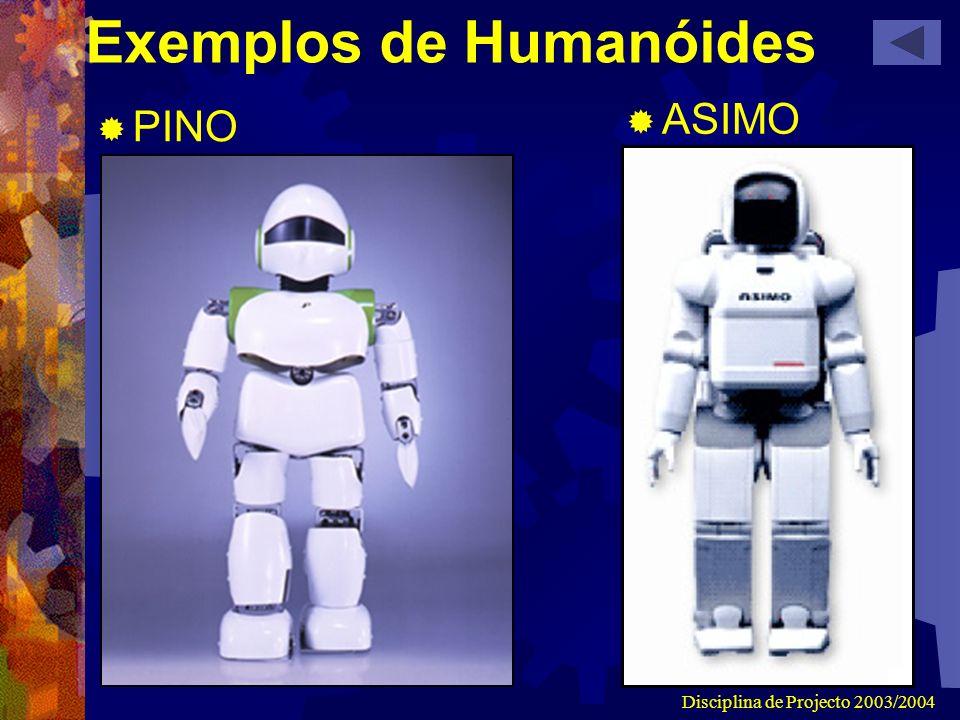 Disciplina de Projecto 2003/2004 Exemplos de Humanóides PINO ASIMO
