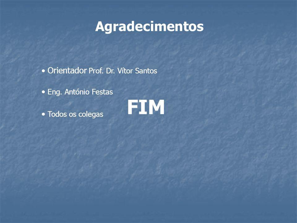 Agradecimentos Orientador Prof. Dr. Vítor Santos Eng. António Festas Todos os colegas FIM