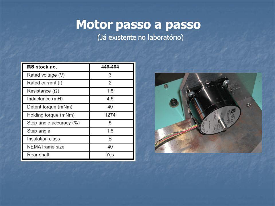 Motor passo a passo (Já existente no laboratório)