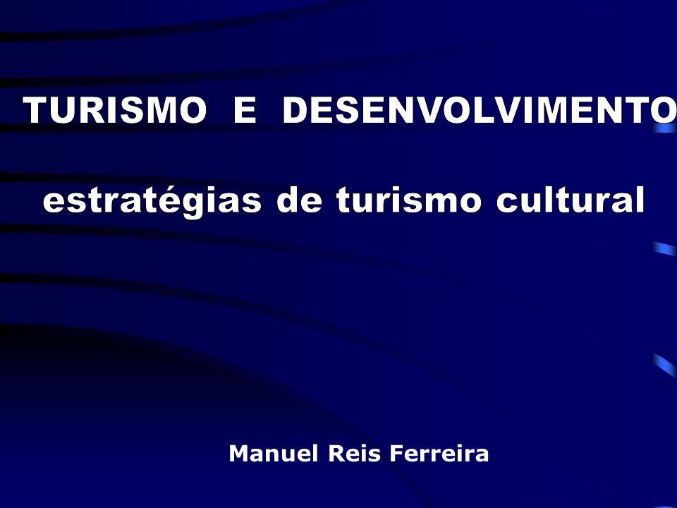 Manuel Reis Ferreira ORGANIZAÇÃO E GESTÃO ESTRATÉGICA DOS DESTINOS TURÍSTICOS GERIR O DESTINO COMO UM PRODUTO O PRODUTO É UMA EXPERIÊNCIA GLOBAL A ESTRATÉGIA TRATA DA EFICÁCIA FACE AOS OBJECTIVOS A GESTÃO TRATA DA EFICIÊNCIA NO USO DOS MEIOS O PLANO DE DESENVOLVIMENTO TURÍSTICO FAZ A PONTE ENTRE A ESTRATÉGIA E A GESTÃO GESTÃO ESTRATÉGICA