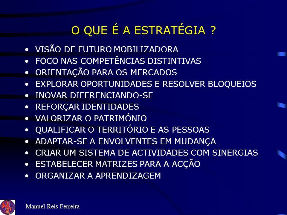 Manuel Reis Ferreira COMO POTENCIAR A CAPACIDADE INDUTORA DE DESENVOLVIMENTO DO TURISMO ? VISÃO AMBIÇÃO VALORES OBJECTIVOS POLÍTICAS ESTRATÉGIAS PLANO