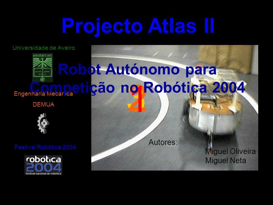3 2 1 Projecto Atlas II Festival Robótica 2004 Engenharia Mecânica DEMUA Universidade de Aveiro Robot Autónomo para Competição no Robótica 2004 Autore