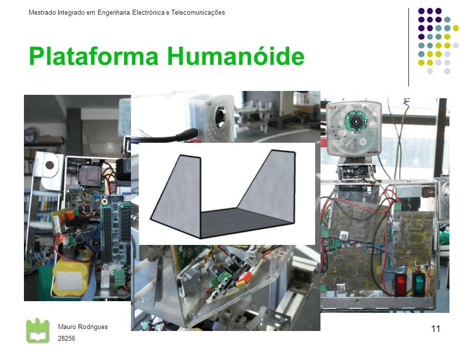 Mestrado Integrado em Engenharia Electrónica e Telecomunicações Mauro Rodrigues 28256 26-06-2008 11 Plataforma Humanóide Alterações à estrutura