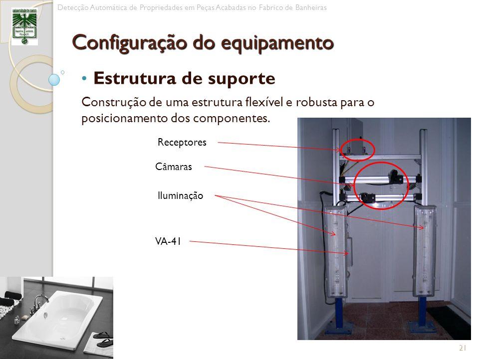 Estrutura de suporte Construção de uma estrutura flexível e robusta para o posicionamento dos componentes. 21 Detecção Automática de Propriedades em P