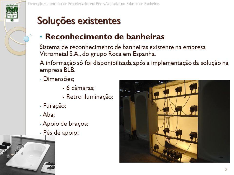 Reconhecimento de banheiras Sistema de reconhecimento de banheiras existente na empresa Vitrometal S.A., do grupo Roca em Espanha. A informação só foi