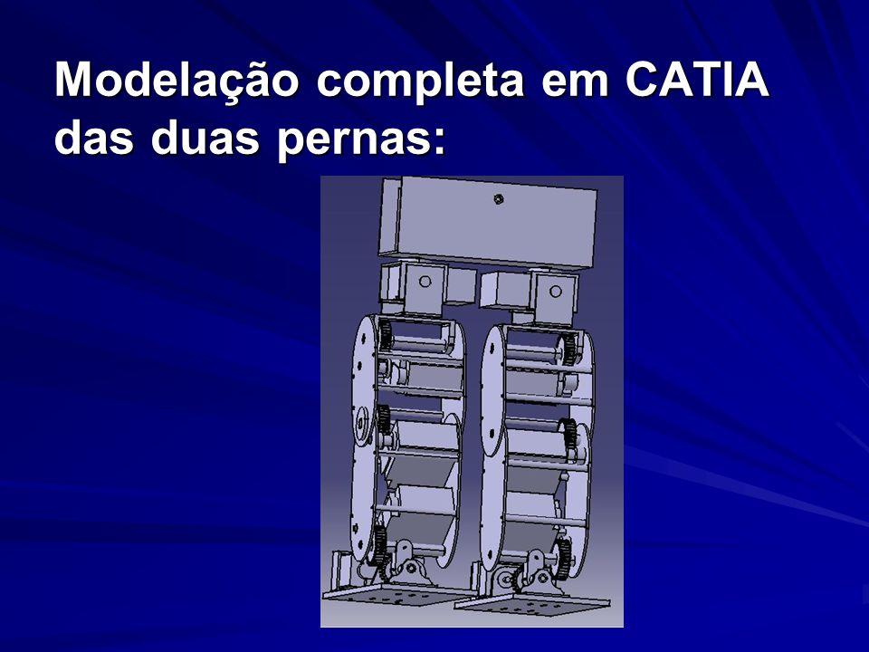 Modelação completa em CATIA das duas pernas: