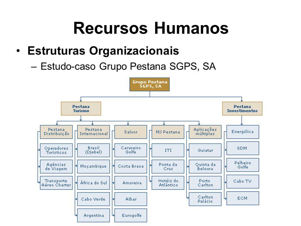 Recursos Humanos Estruturas Organizacionais –Estudo-caso Grupo Pestana SGPS, SA