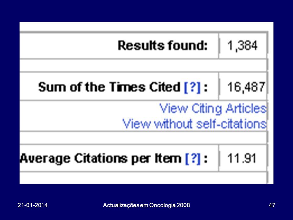 21-01-2014Actualizações em Oncologia 200847